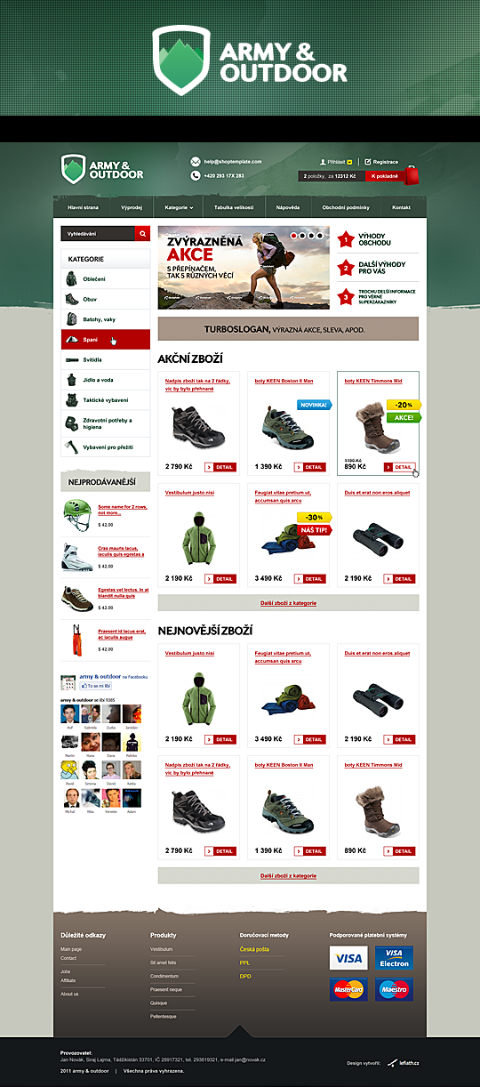 Army & outdoor e-shop